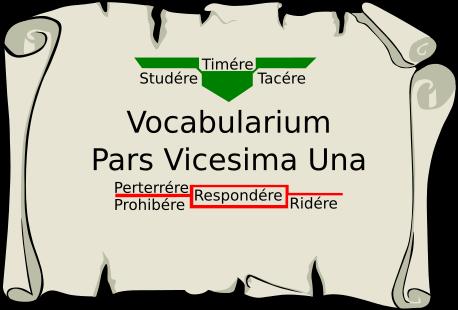 Vocabularium Pars Vicesima Una