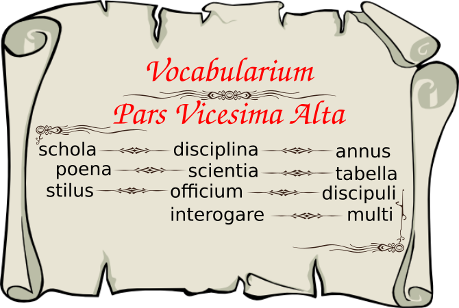 Vocabularium Pars Vicesima Alta