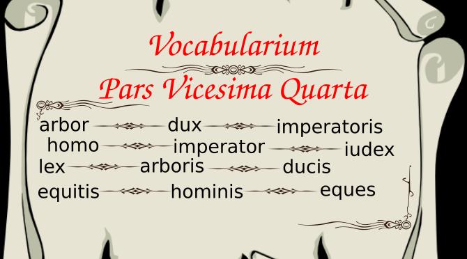 Vocabularium Pars Vicesima Quarta