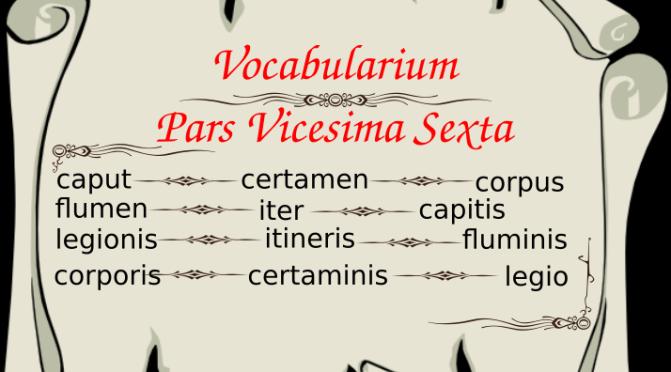 Vocabularium Pars Vicesima Sexta